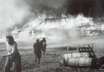 Russian village is burning