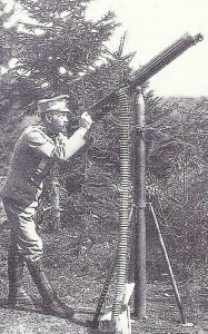 air defense with a machine gun