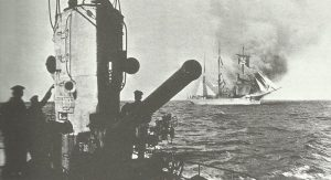German U-boat sinks Italian sailing ship