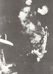 direct hit on battleship Marat