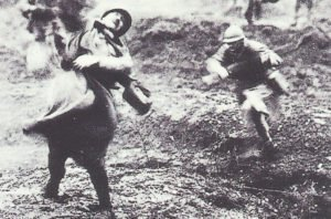 French soldier falls