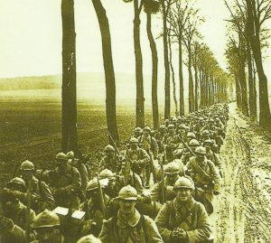 French infantry on the march