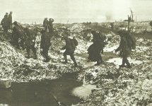 British troops Somme first snow