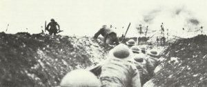 British infantry goes over the top i