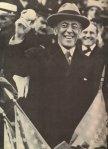 US President Wilson holding a baseball at a World Seriews match