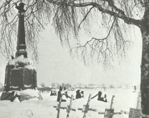 Graves of German soldiers near the monument to the battle of Borodino