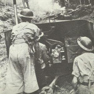 Australian anti-tank gun in the battle