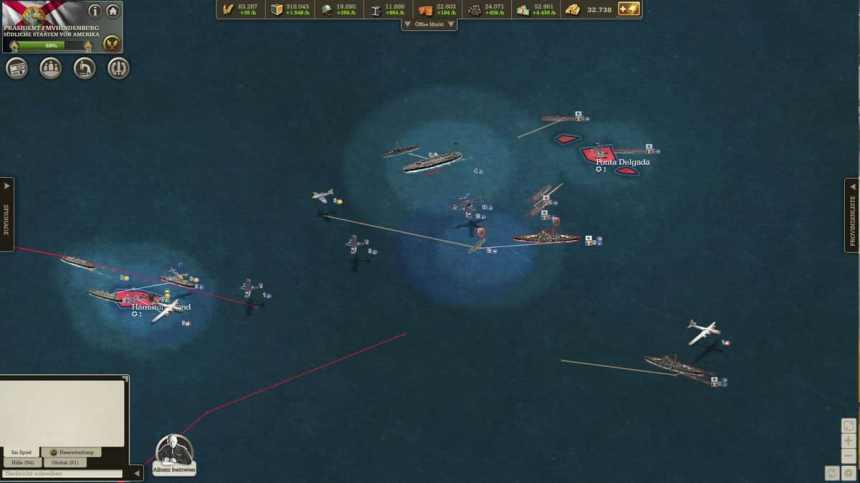 Sea battle at Porta Delgadia