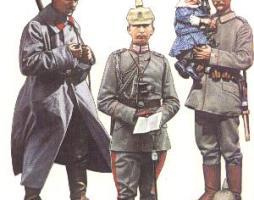 German uniforms World War One