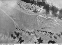 burning ships in the port of Darwin