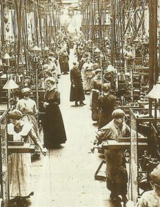 Women at work in a German arms factory.