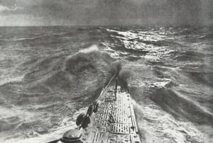 bow of a German U-boat