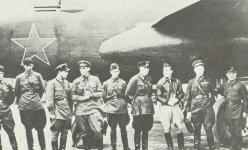 Russian air crews take over in Anchorage in Alaska Lend-Lease B-25 Mitchell bombers