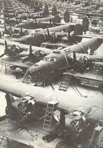 Production of B-24 Liberator bombers