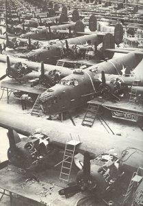 Production of B-24 Liberator bombers