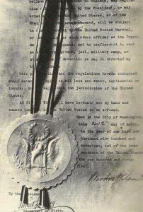 Wilson's declaration of war