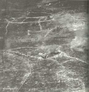 Aerial picture of the German-French frontline