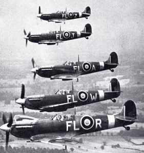 Formation of Spitfire Vb's