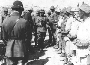 Turkish troops in Palestine