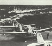 Dauntless dive bombers on a US carrier