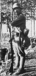 Austro-Hungarian soldier on sentry duty