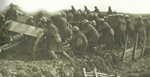 field gun in mud at Ypres