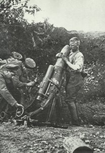 German mortar at the Isonzo