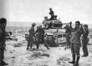 Surrender of a disabled German Matilda tank