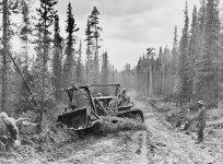 Work on the 'Alaska Highway'