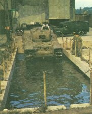 Water trials with a Churchill