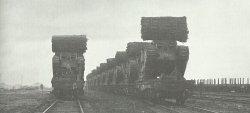 British tanks loaded on trains