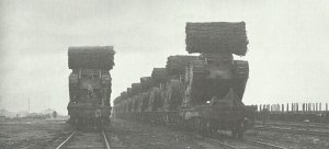 British tanks loaded on trains