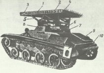T-60 light tank for BM-8-24 launcher