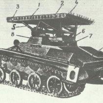 T-60 light tank for BM-8-24 launcher