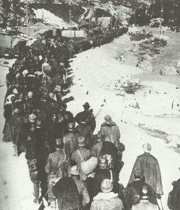 Column of Italian soldiers who had been captured
