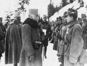 Conrad von Hoetzendorf inspecting troops