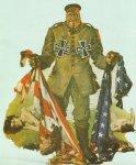 propaganda sees the 'bestial Germans'.