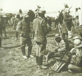 Turkish cavalry in a camp near Jerusalem