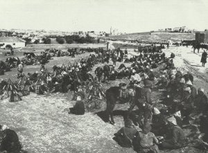 Turkish troops at Jerusalem.