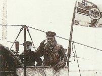 U-boat is leaving the base
