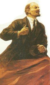 Lenin as a hero of the revolution.