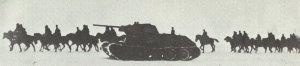 Soviet cavalry and T-34 tanks
