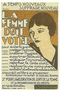 French poster calls for women's suffrage
