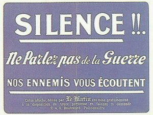 France: pay attention to enemy agents and spies