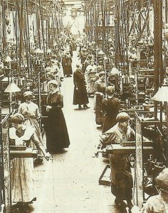 Femal workers weapons factory