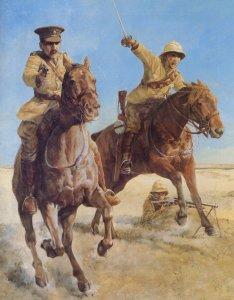 British cavalry charging