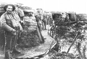 Portuguese troops in their trenches