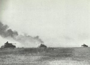 German tanks roll forward to Prokhorovka