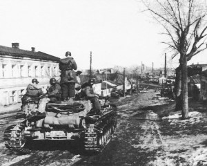 Totenkopf Division tanks advance
