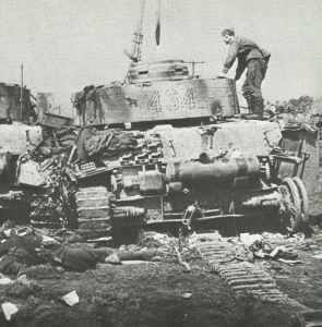 Destroyed German Panzer IV